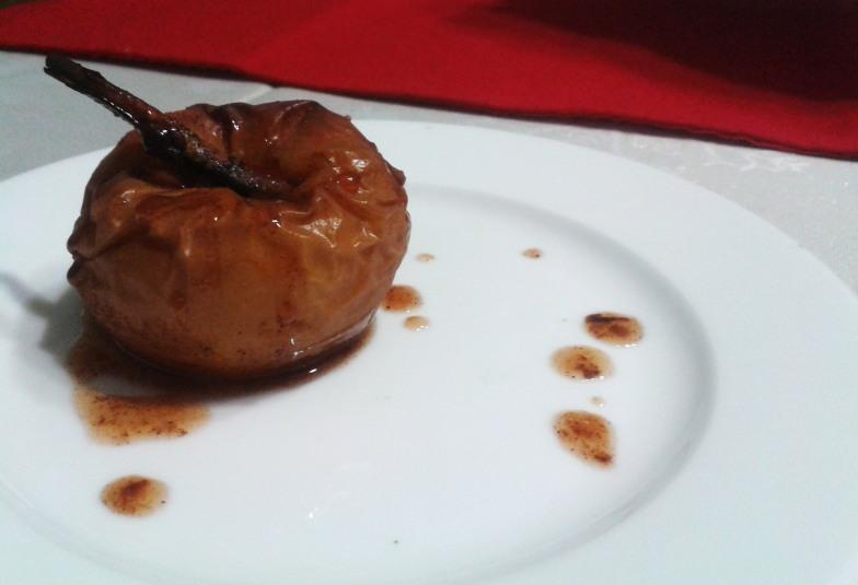 manzana caramelizada al horno
